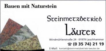 Steinmetz Läuter Lauchhammer